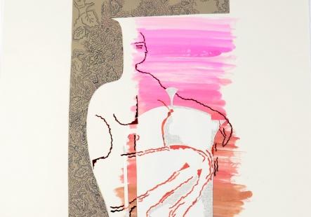 Papercut Vase XIII