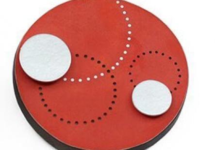 Red Circle Brooch