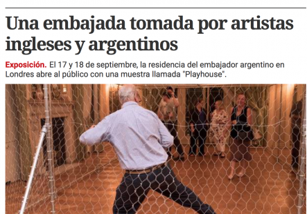 Andrea Harari featured in the Argentine newspaper 'Clarin'