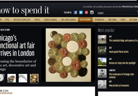FT How to Spend It on jaggedart artists at SOFA London