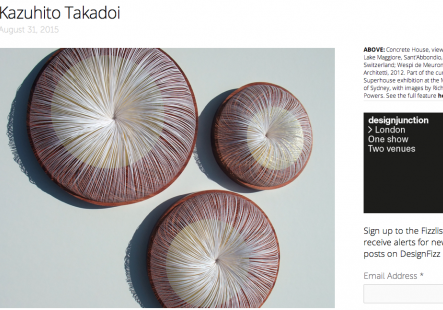 Kazuhito Takadoi featured in DesignFizz