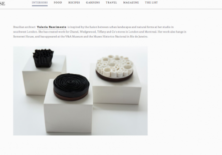 Valeria Nascimento in Collect mentioned in House & Garden