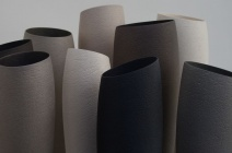 Group of slim tall vessels