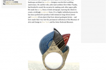 Bespoke jewellery hewn from beloved books - Jeremy May in FT How to Spend It Online - article by Rachelle Gryn Brettler