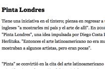 Director of jaggedart Andrea Harari Interview by Gabriela Origlia in La Nacion